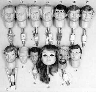 Collection of heads