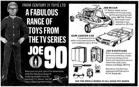 Century 21 Toys advert from Joe 90 Top Secret issue #3