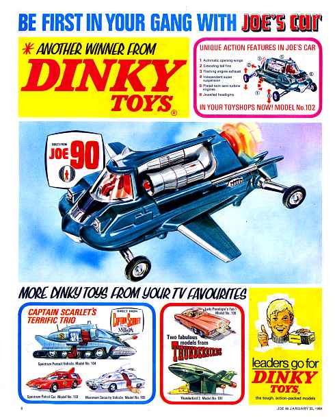 "Dinky advertisement for ""Joe's Car"""